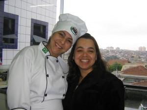 A instrutora Laura e eu