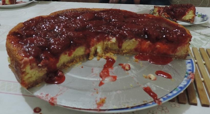 cheesecake fatiado